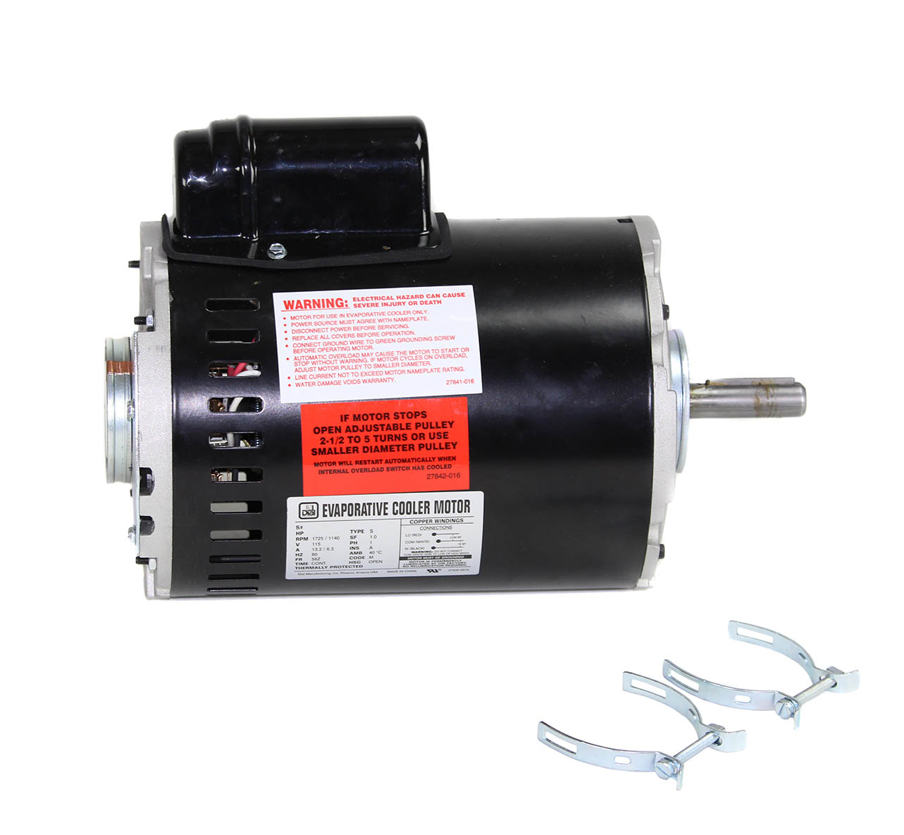 1 HP 1 Speed Industrial Motor - Dial Manufacturing, Inc