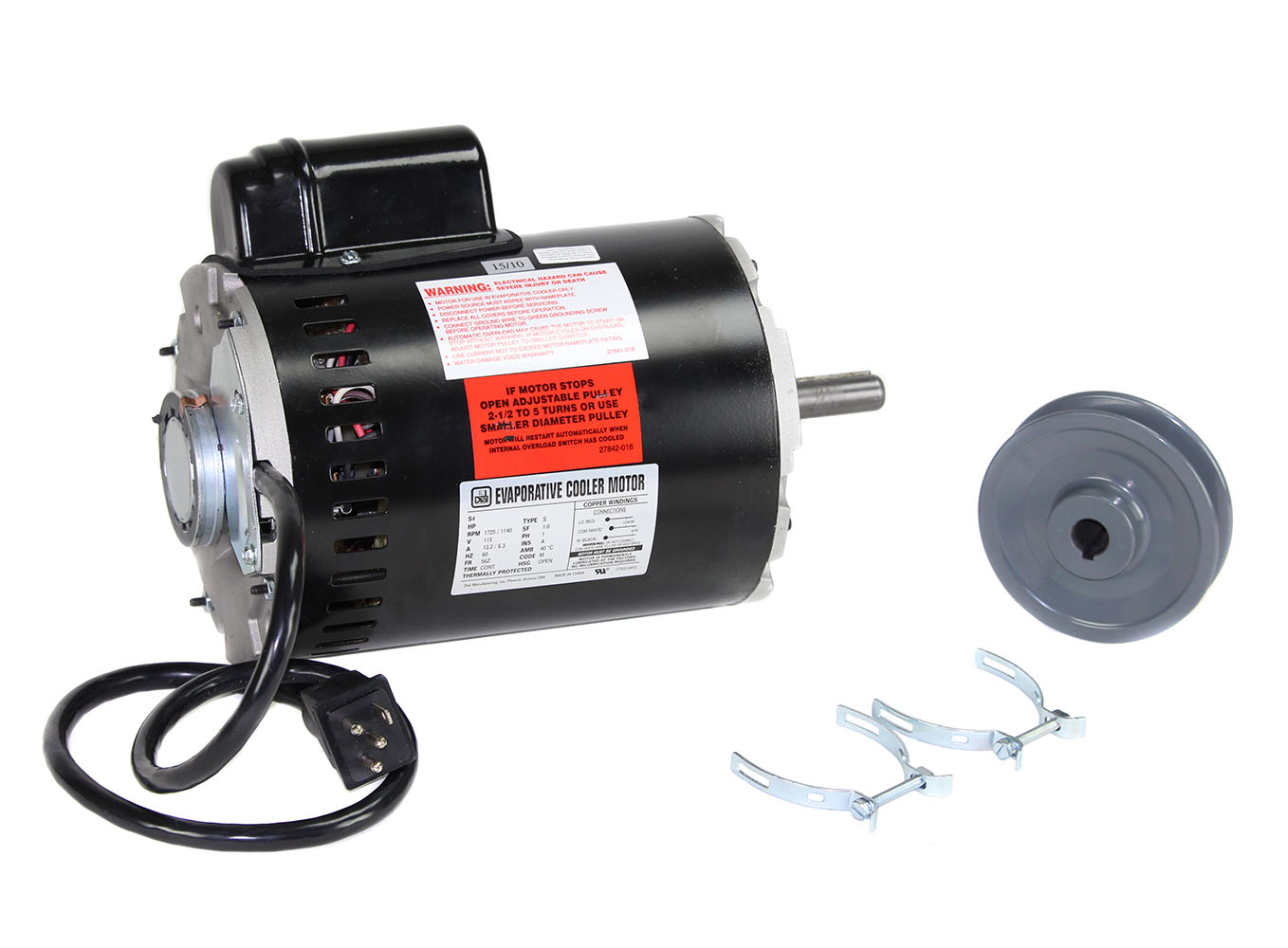 1hp motor kit for single inlet coolers dial for Castellano electric motors inc