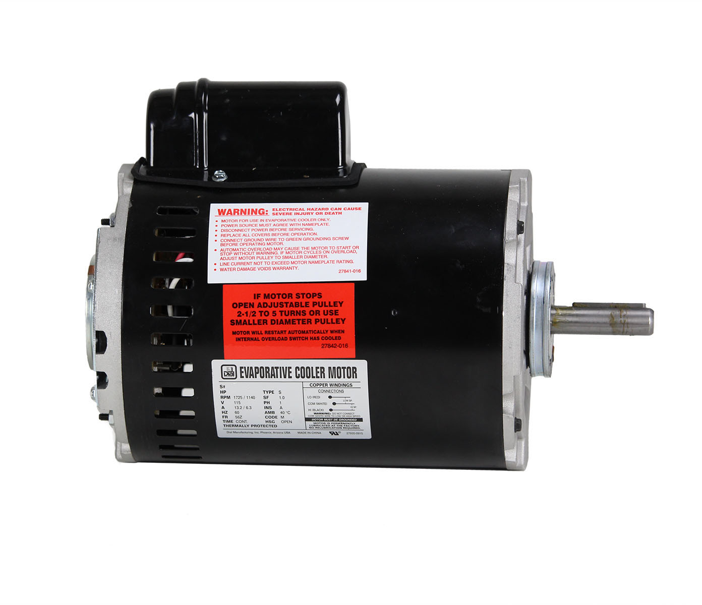 1 hp 2 speed single inlet motor dial manufacturing inc for Castellano electric motors inc