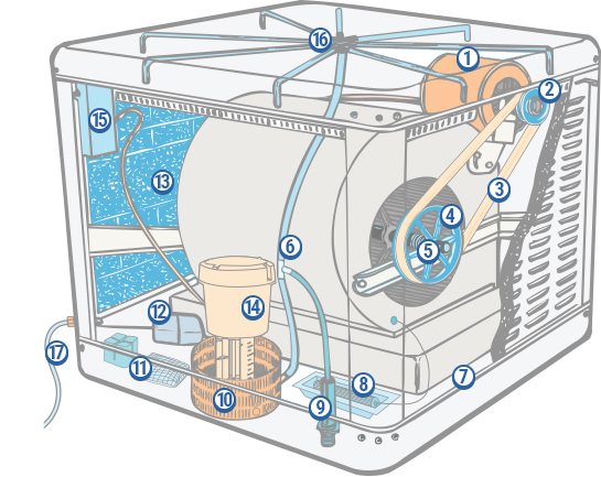 Evaporative Cooler Diagram